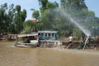 Illegal Sand Mining Erodes Riverbanks, Vietnam