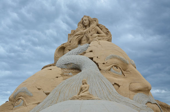 Indian sand artist wins prize in Denmark