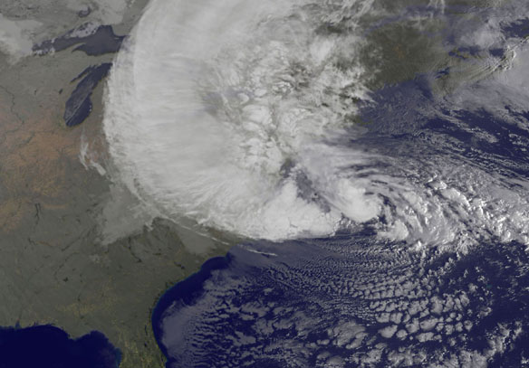 NASA Examines Hurricane Sandy as it Affects the Eastern U.S.