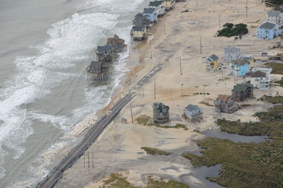 Post Sandy: Aerial Images of North Carolina' s coast