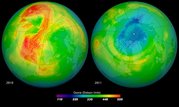Ozone Layer Above North Pole Expected to Recover