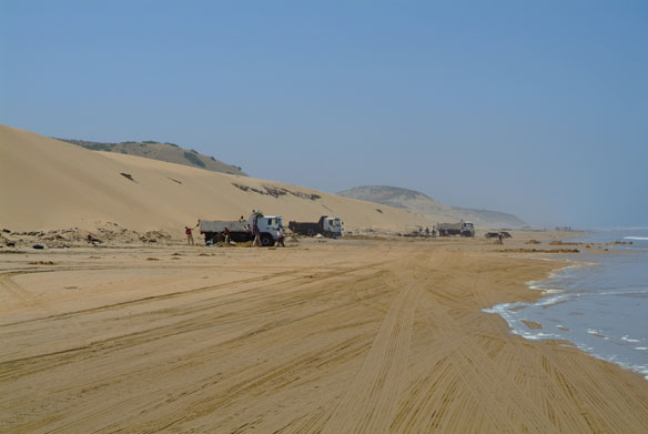 Sand mining ravages African beaches