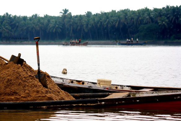 Villagers seek action against illegal sand mining, India