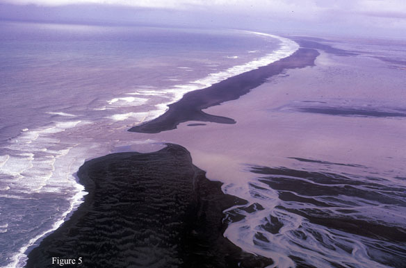 Glacial Outwash Plain Shoreline, South-Central Iceland; By Albert C. Hine, Jon C. Boothroyd & Dag Nummedal