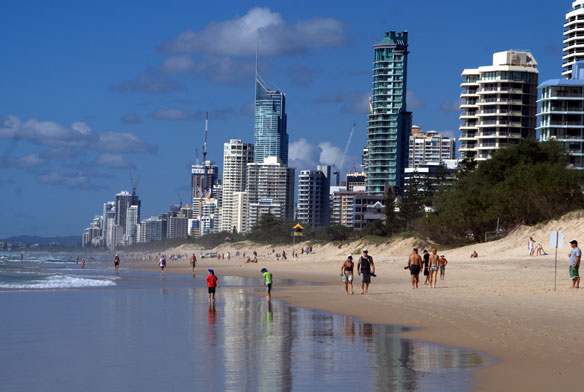 Supermoon King Tides Batter Eroded Gold Coast Beaches