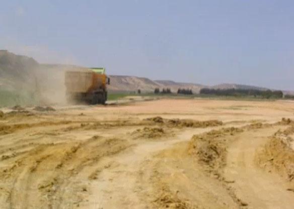 Beach Sand Mining, Saidia, Morocco