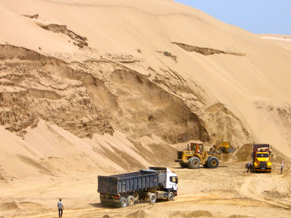 Tracing the source of illicit sand–can it be done?