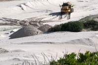 The environmental loss of illegal sand mining in South Africa