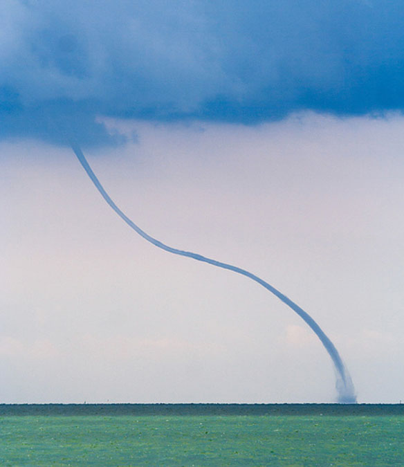 A Magnificent Waterspout In Croatia, Video