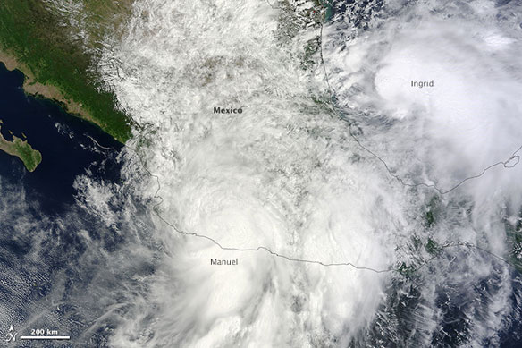 Two Storms Strike Mexico