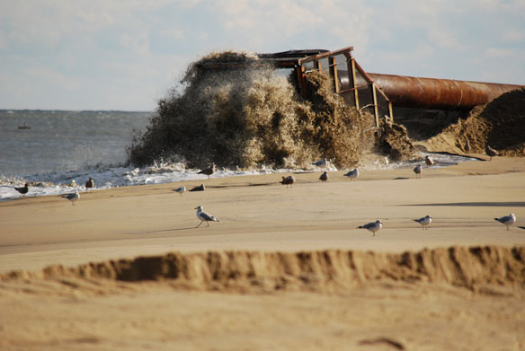 Gilgo Beach Dune Erosion Filled With Sand