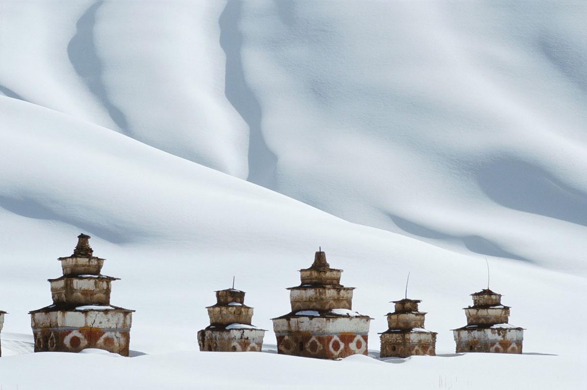 Tibetan Chortens; By Debra Kellner