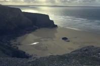 Tony Plant's Beach Art, Filmed By Ruarri Joseph