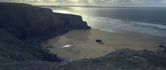 Tony Plant's Beach Art, Filmed By Ruarri Joseph
