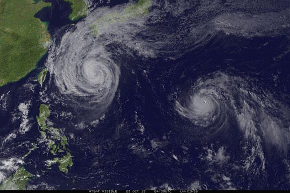 Tropical Cyclone Maximum Intensity Is Shifting Toward Poles