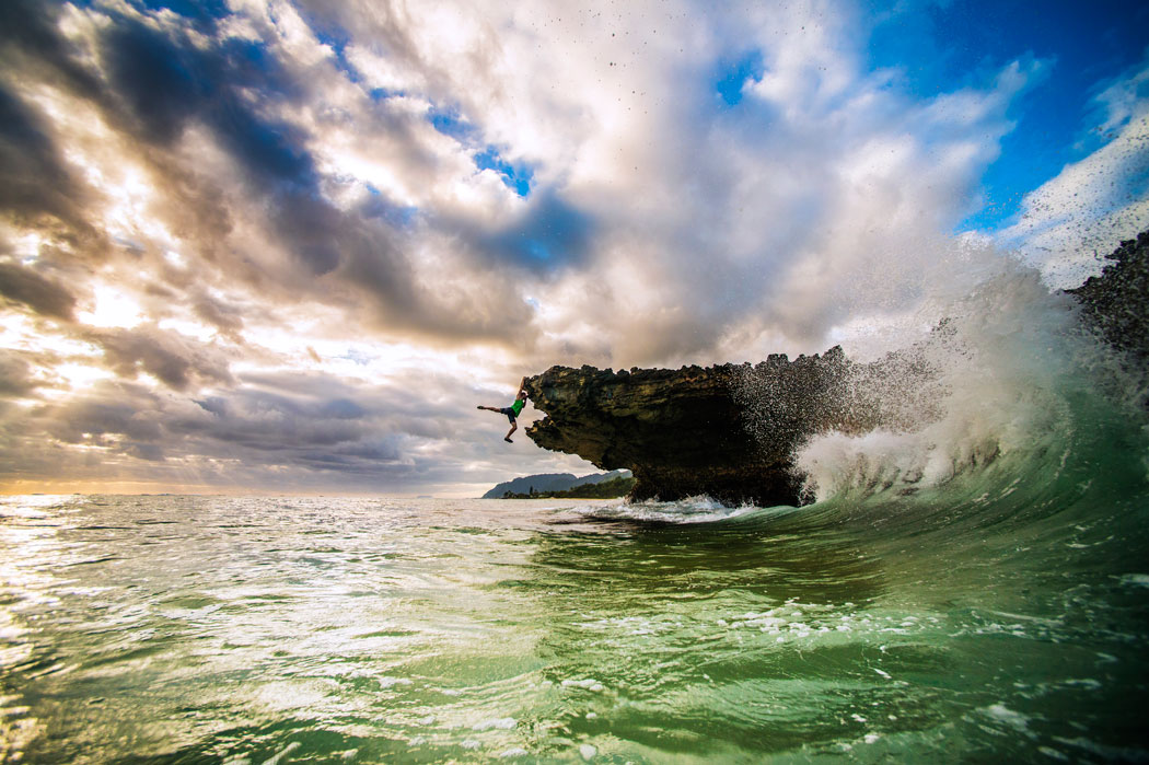 Shallow Water Soloing, Pounders Beach, Oahu; By Ryan Moss