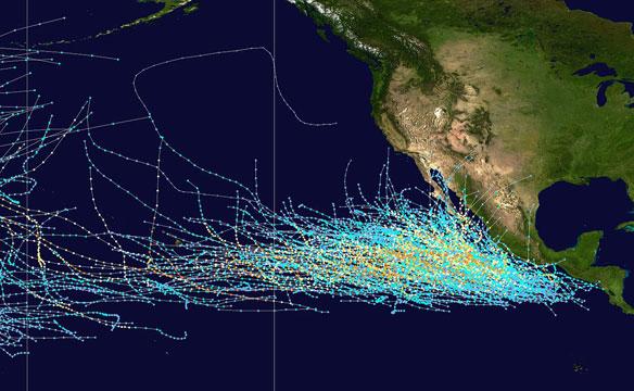 El Niño's Remote Control on Hurricanes in the Northeastern Pacific