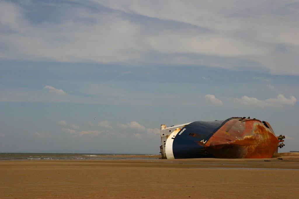 Cargo Ship Stranded Off Isle of Wight's Coast, UK