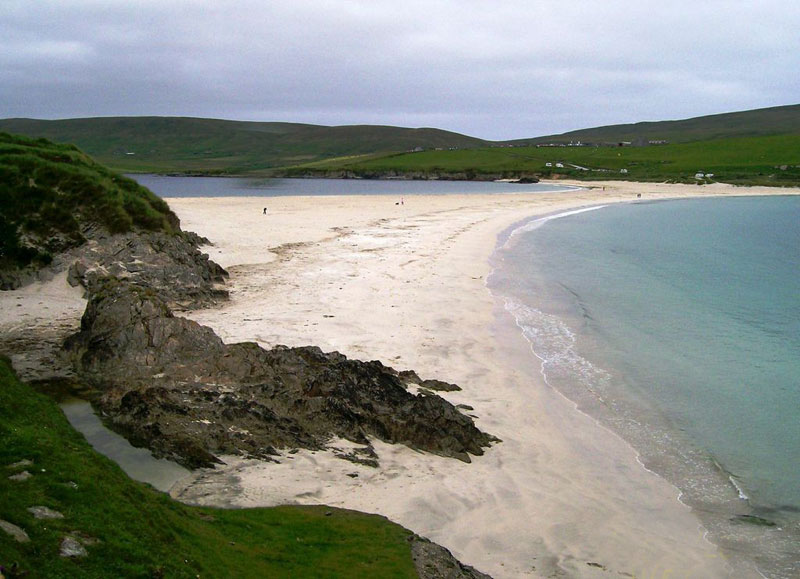 St. Ninian's Tombolo, Shetland, Scotland; By Norma Longo