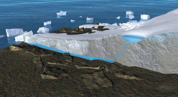 Greenland Ice Loss: Follow the Water