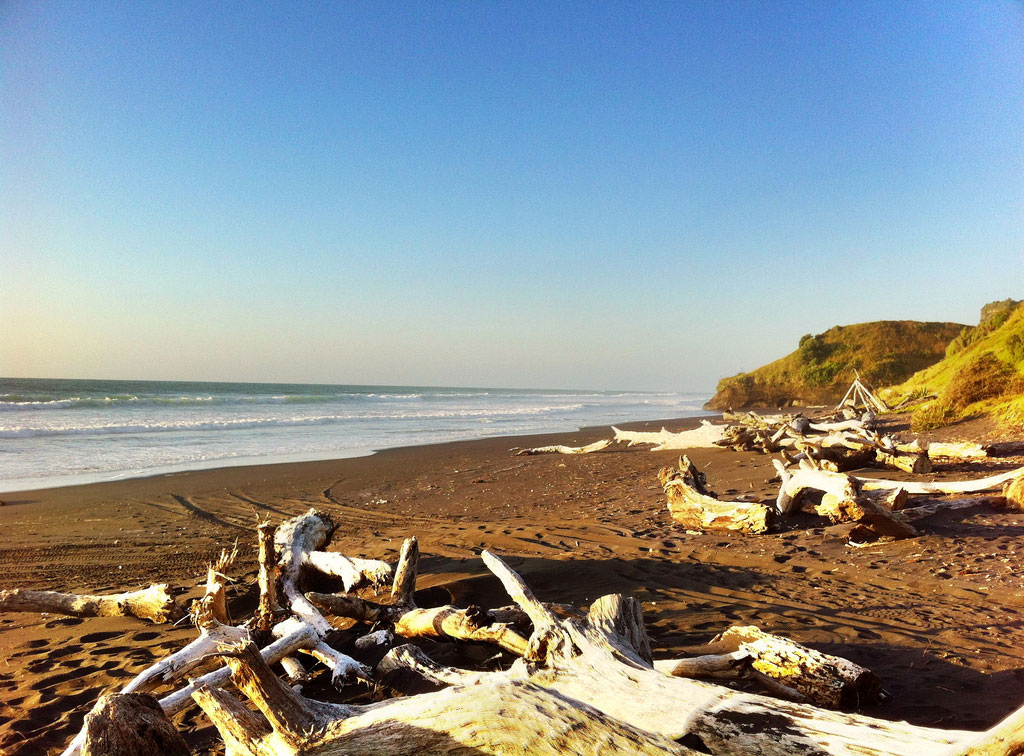 Coastal Erosion Eats Away at Mokau, New Zealand