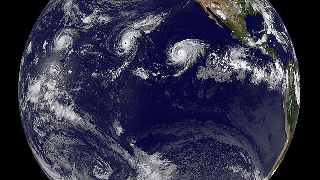 NASA Sees a Tropical Trio of Category 4 Pacific Ocean Hurricanes