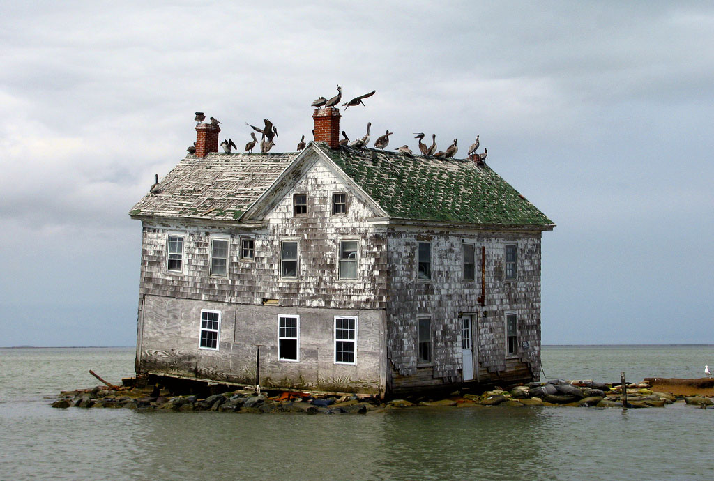 The Last house of Sinking Chesapeake Bay Island