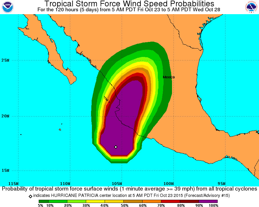 Patricia, Strongest Hurricane Ever Recorded, Menaces Mexico