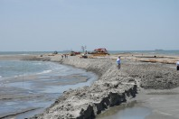 Piling sand to stop erosion ultimately made the land sink, study says