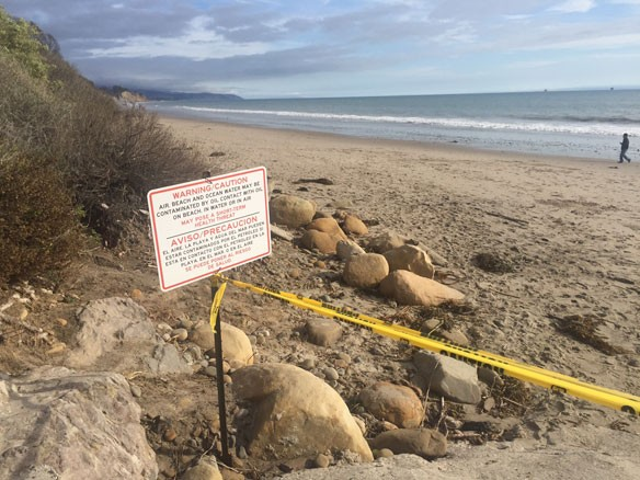 summerland-beach-closure