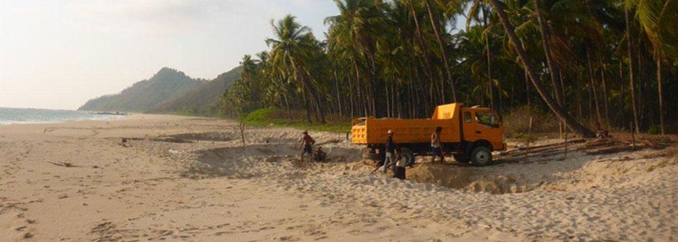 Paradise Lost? Beach sand mining, Ngapali beach, Myanmar