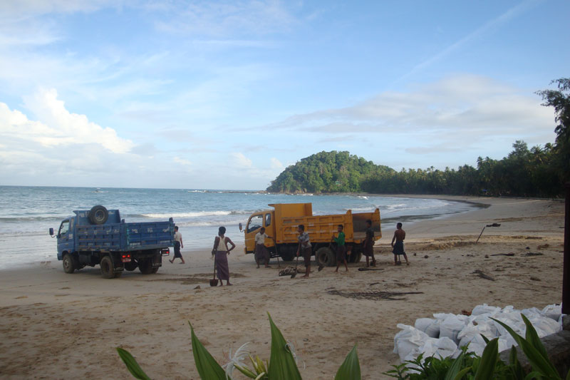 Grain by Grain, Truck by Truck: How Myanmar Is Losing its Beaches