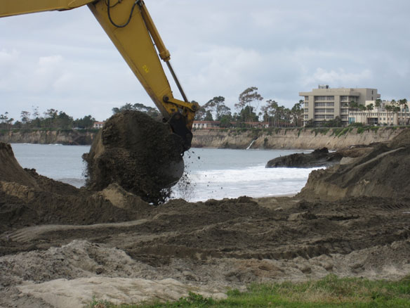 Where's all the sand in La Jolla? CA