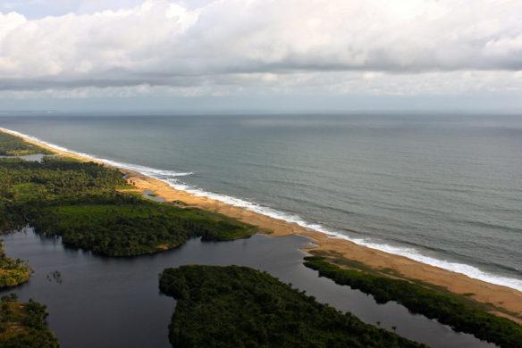 Tsunami Destruction Liberia: Sand Mining T...
