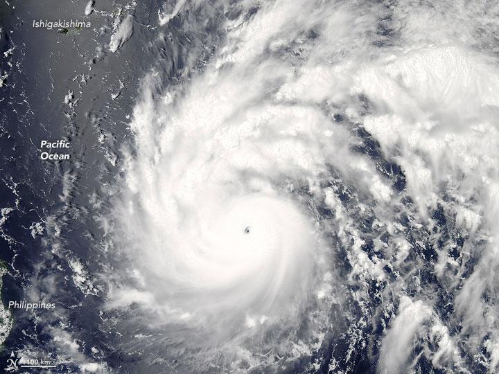 Powerful Category 5 Typhoon Nepartak Takes Aim at Taiwan, China