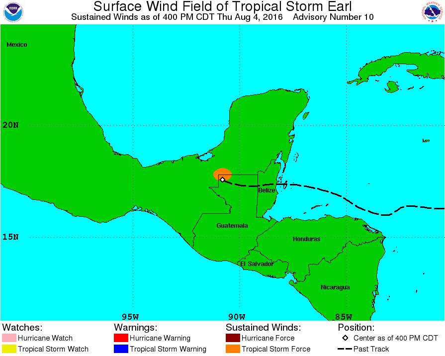 Downgraded Earl lashes Belize