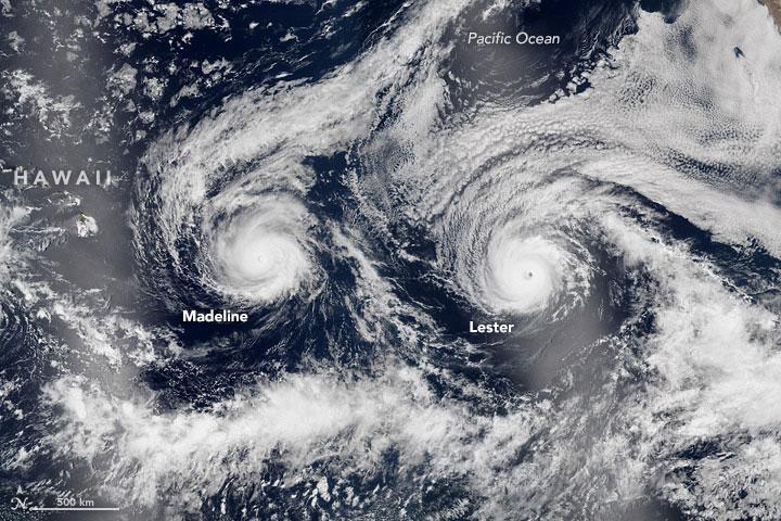 Twin Hurricanes Head Toward Hawaii as Tropical Storm Hermine Forms off Florida's Gulf Coast