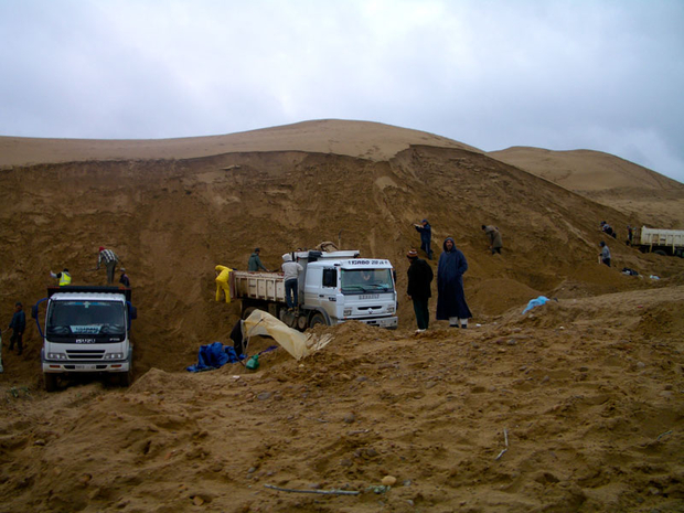 A public company attempts to improve the sand market, Algeria