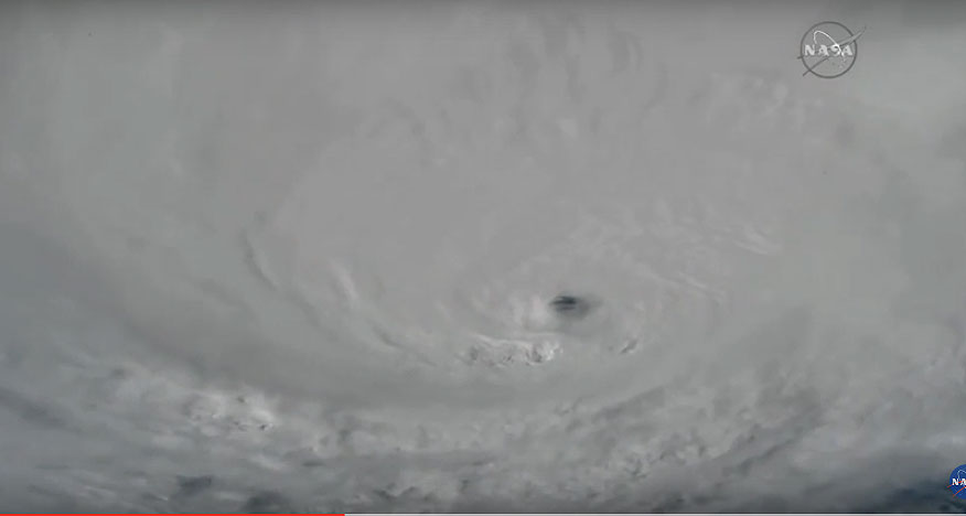 NASA just released footage from space of category 4 hurricane Matthew