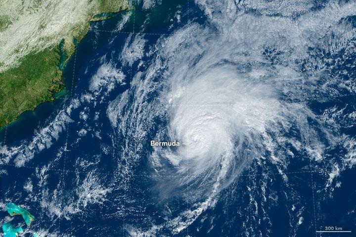 Rare Hurricane Hits Bermuda