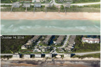 Before and After Photos: SE Beach Dunes Lost to Hurricane Matthew