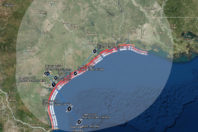 Many Texas Beaches Likely to Erode, Be Overwashed, or Inundated by Hurricane Harvey