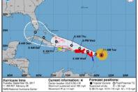 Potentially catastrophic Category 5 hurricane Irma heading toward the Leeward Islands