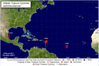 Tropical Storm Jose Becomes the 10th Named Storm of the Hurricane Season