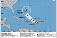Hurricane Jose strengthens to a Category 4