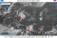 Three tropical storms churning in the Atlantic Ocean