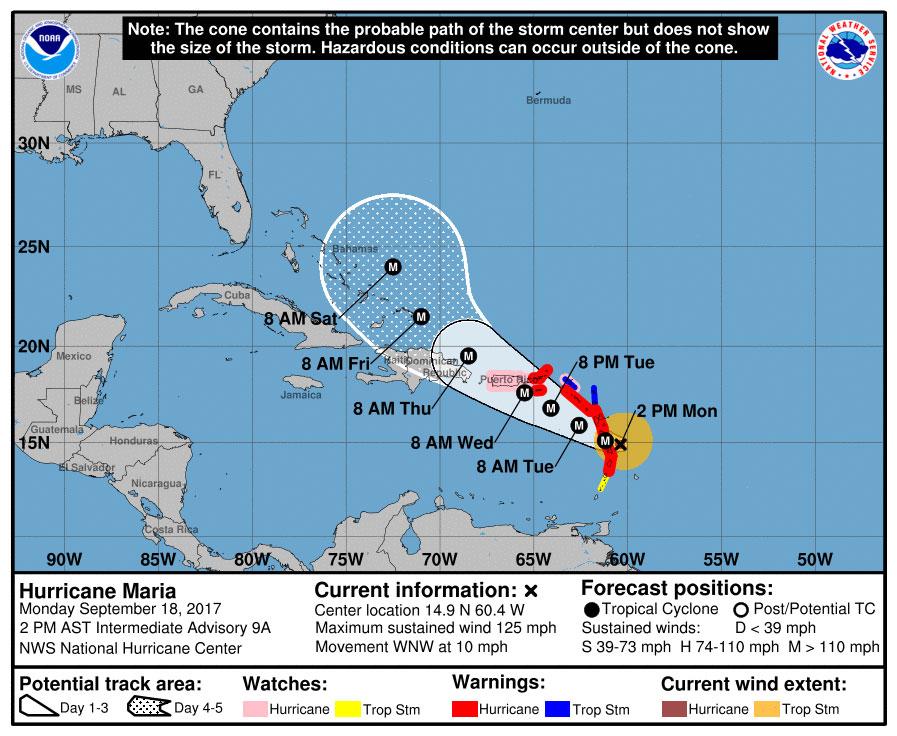 Hurricane Maria strengthens to Category 4 hours before landfall