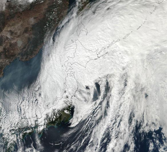 Typhoon Lan made landfall in Japan, causing flooding and landslides