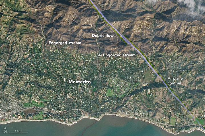Deadly Debris Flows in Montecito, CA