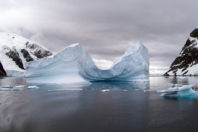 """Concave Iceberg Gerlache Strait, Antarctica – From """"A Touch of Nature """" Series; By Norma J. Longo"""